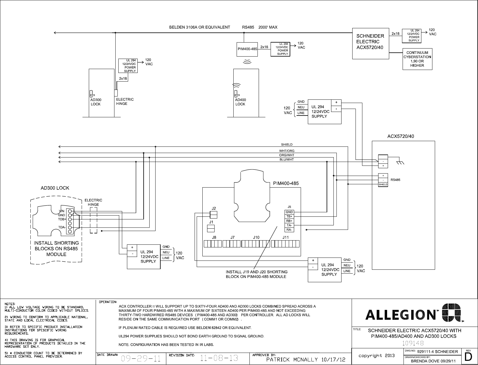 hight resolution of schlage electronics c ad300 ad400 wiring diagram schneider acx5720 40 rs485 109148