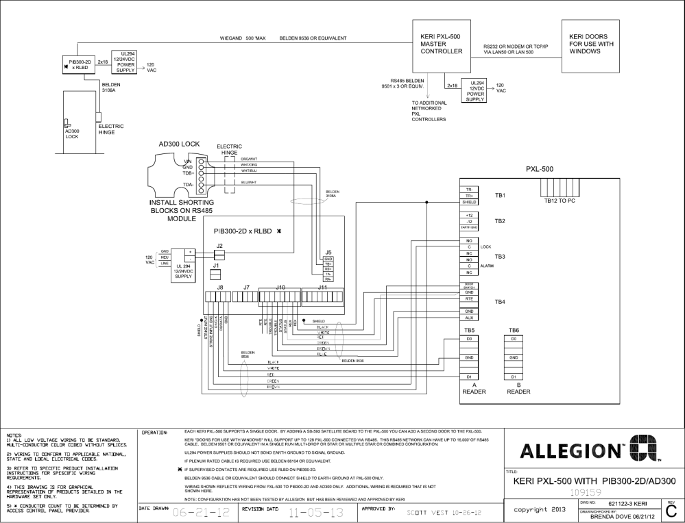 medium resolution of schlage electronics c ad 400 pim400 485 wiring diagram with keri