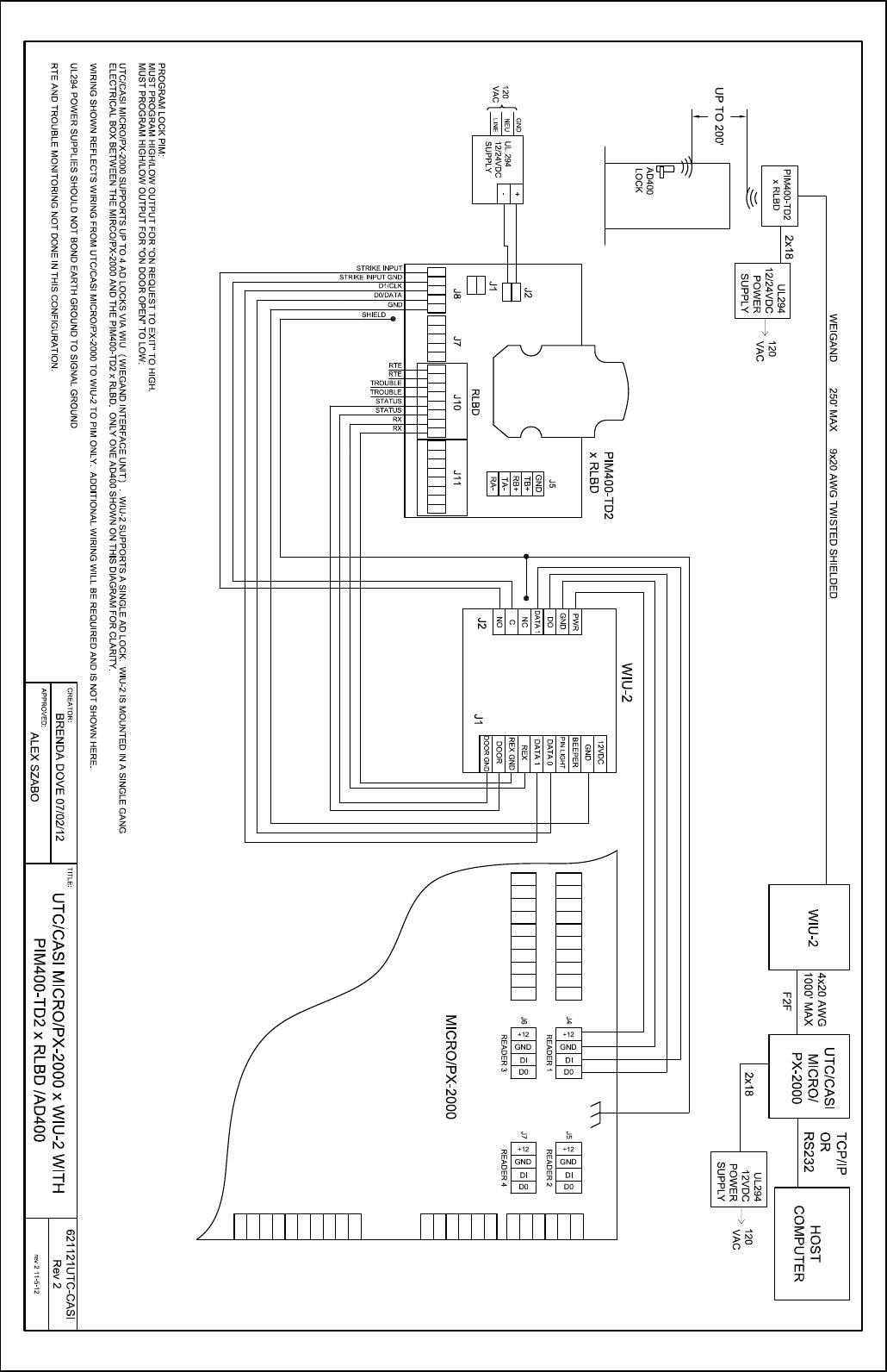 Schlage Electronics C AD400 Wiring Diagram UTC Casi Micro