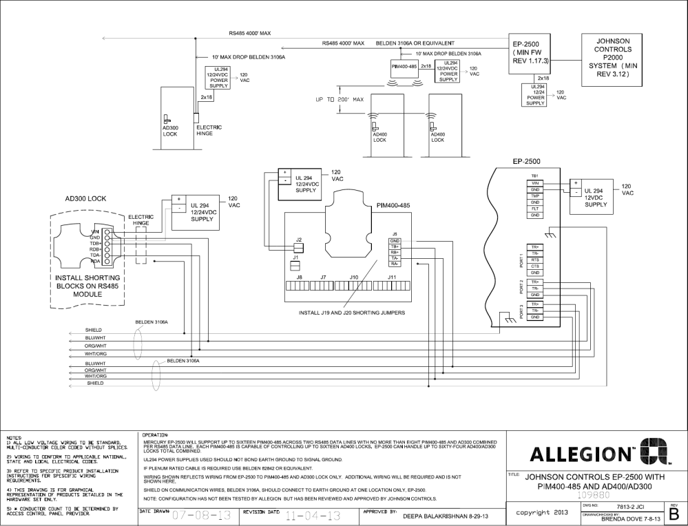 medium resolution of schlage electronics c ad300 ad400 wiring diagram johnson controls ep johnson controls a350p wiring diagram johnson controls wiring diagrams