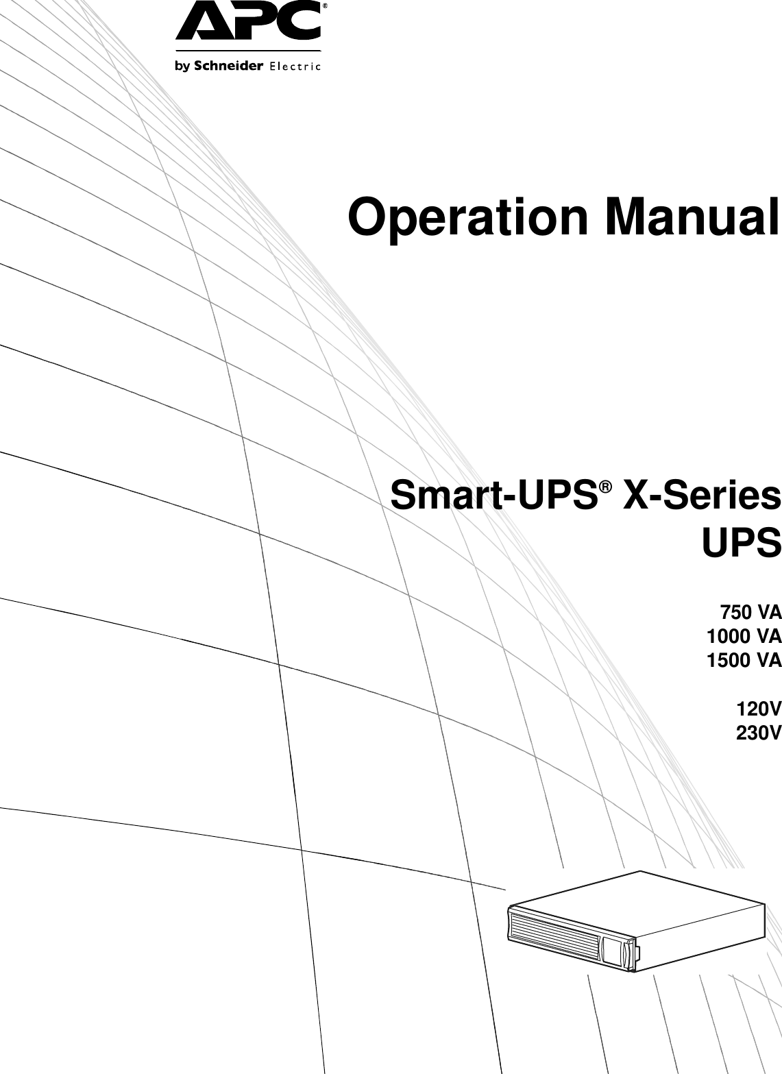 Schneider Electric Smart Ups 750Va Users Manual APC X
