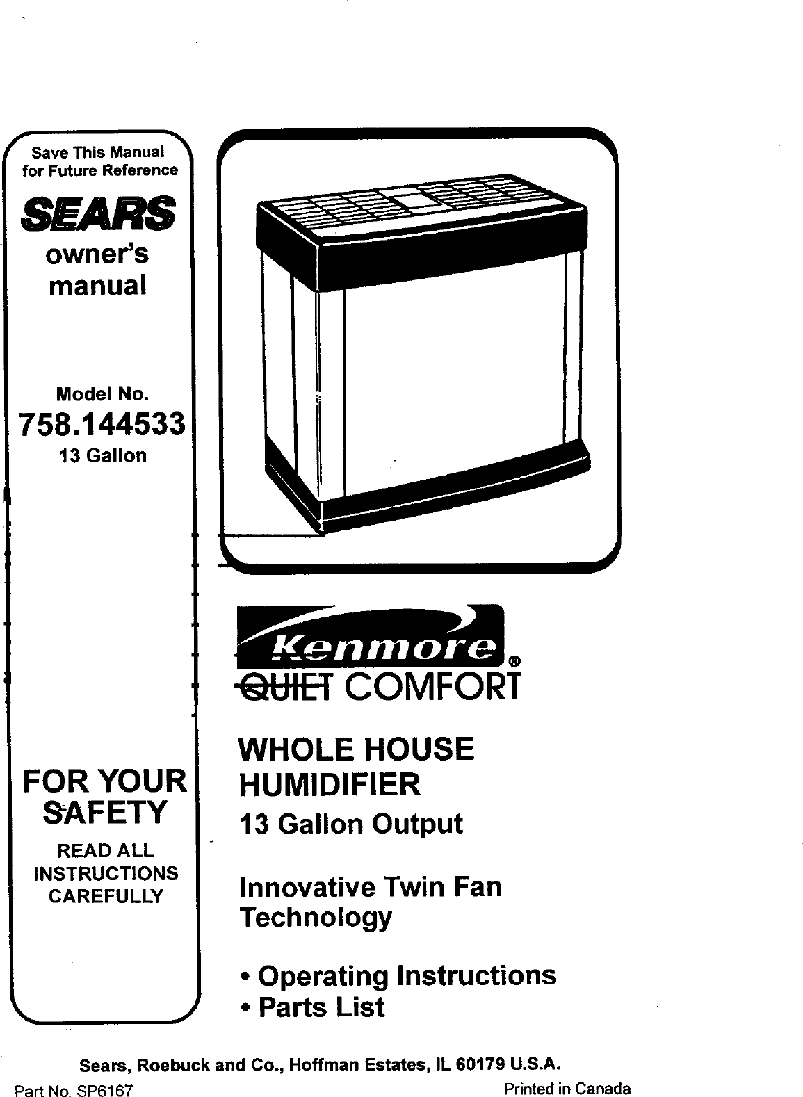Sears Kemore 758 144533 Users Manual