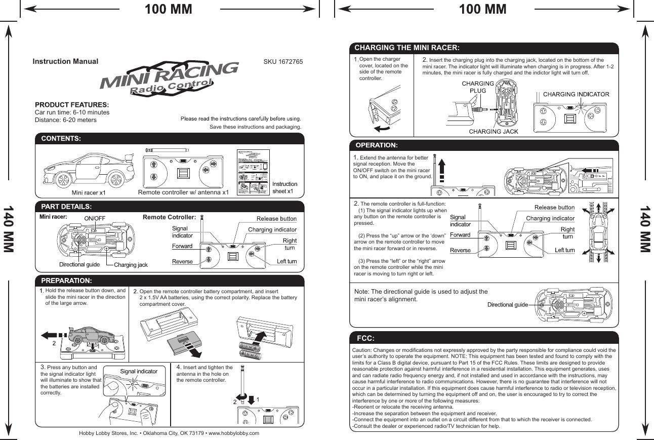 Shantou Dihua 201805 RC Car User Manual PS RVSD RC Car in
