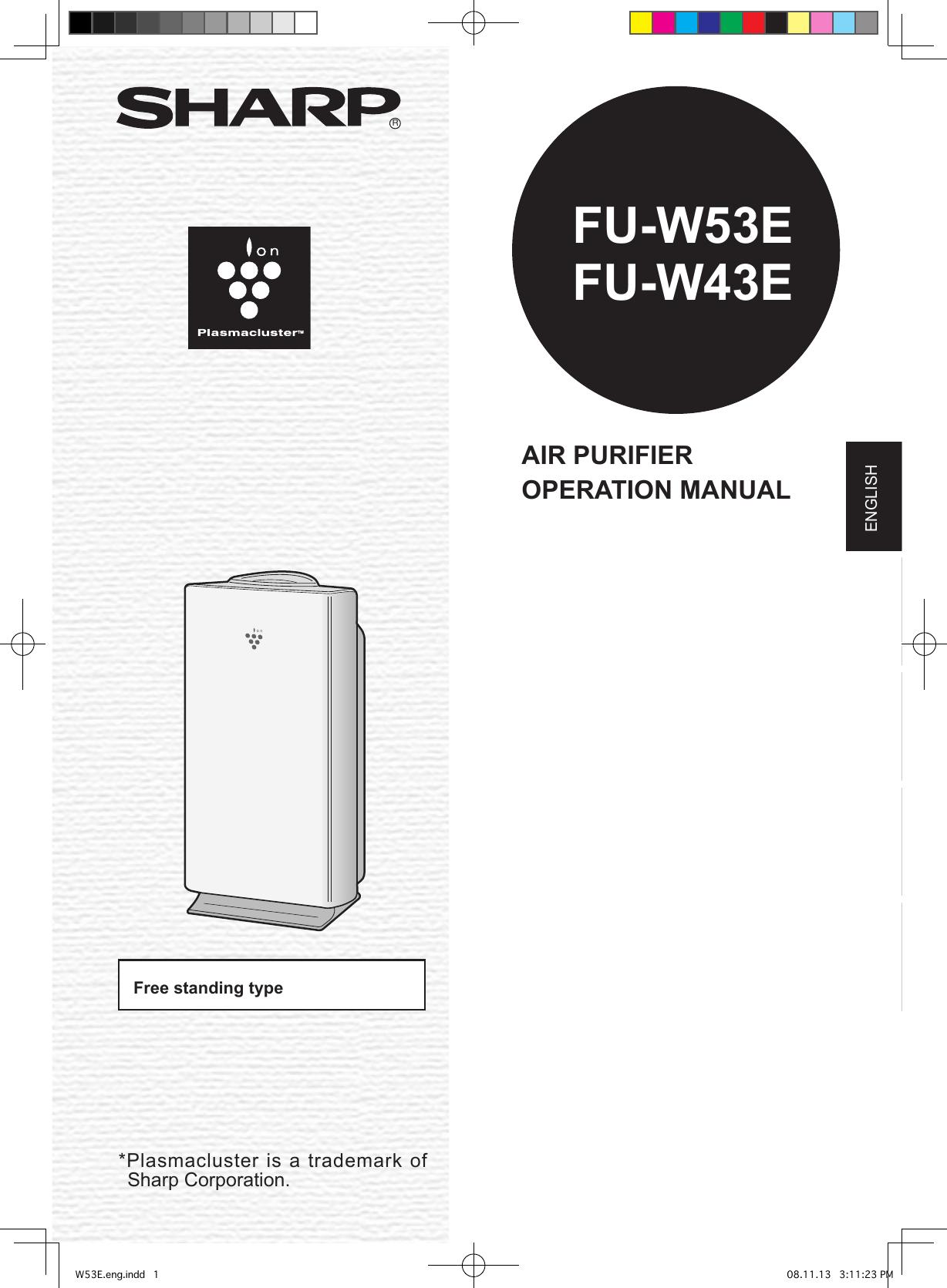 Sharp FU W53E W43E/W53E Operation Manual GB User To The