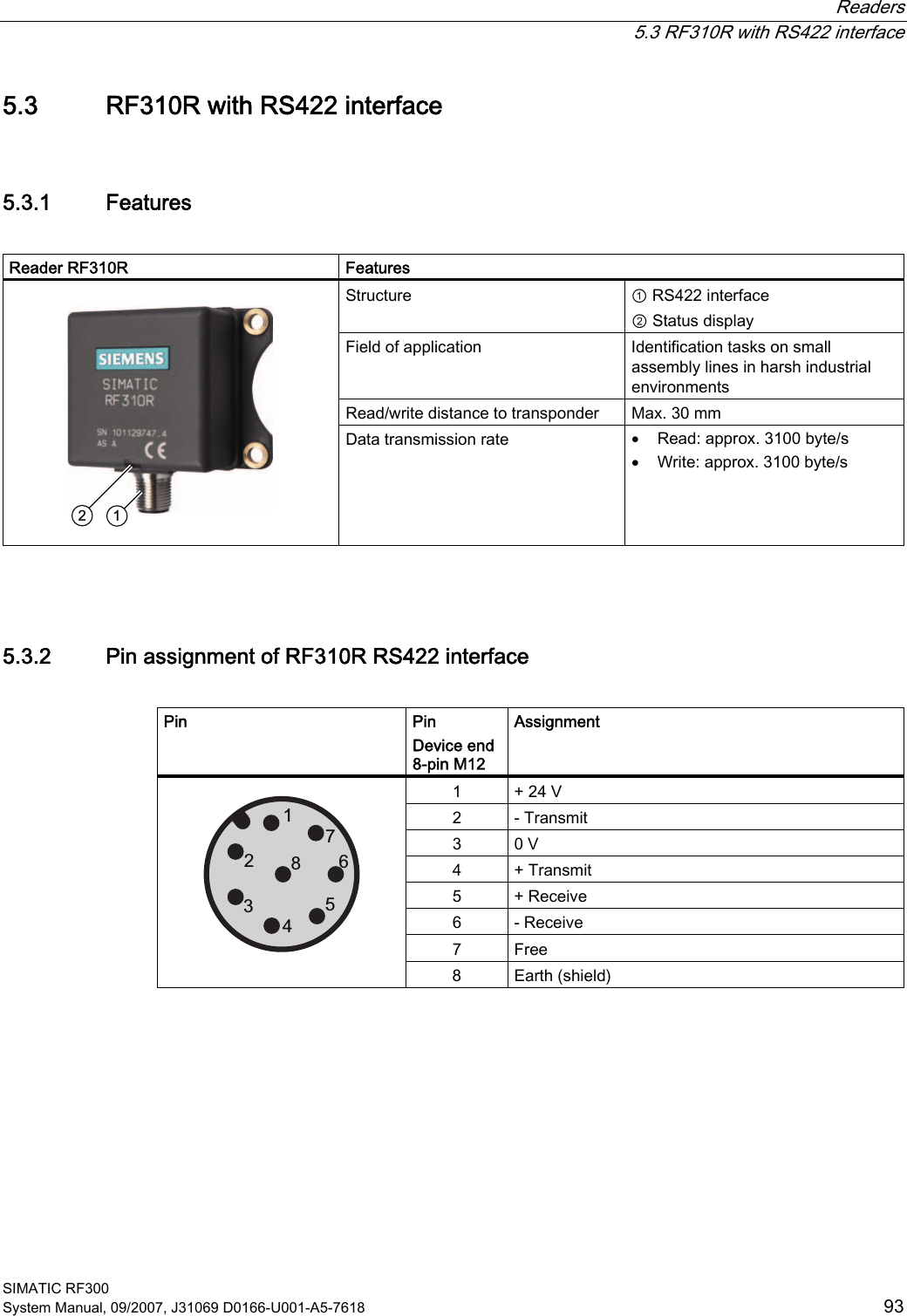 Siemens RF380R Tag Reader User Manual SIMATIC Sensors RFID