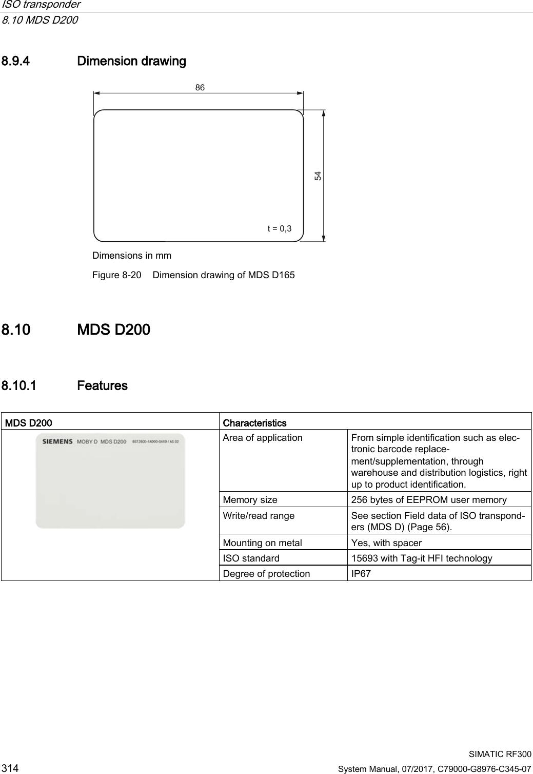 Siemens RF380R02 RFID Reader 13.56 MHz User Manual SIMATIC
