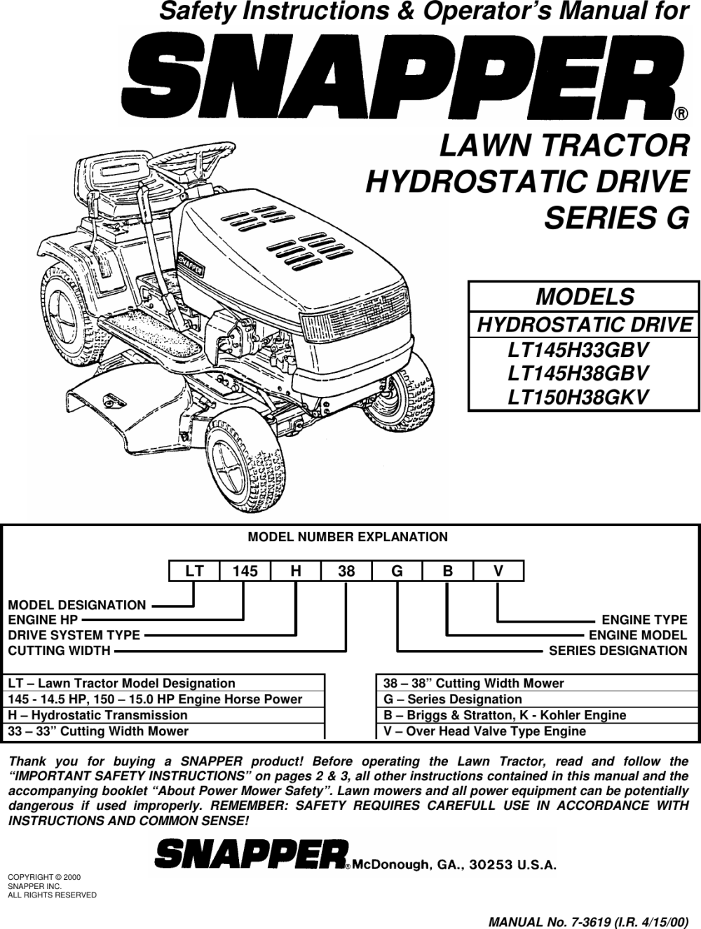 medium resolution of snapper lawn tractor lt145h38 belt diagram