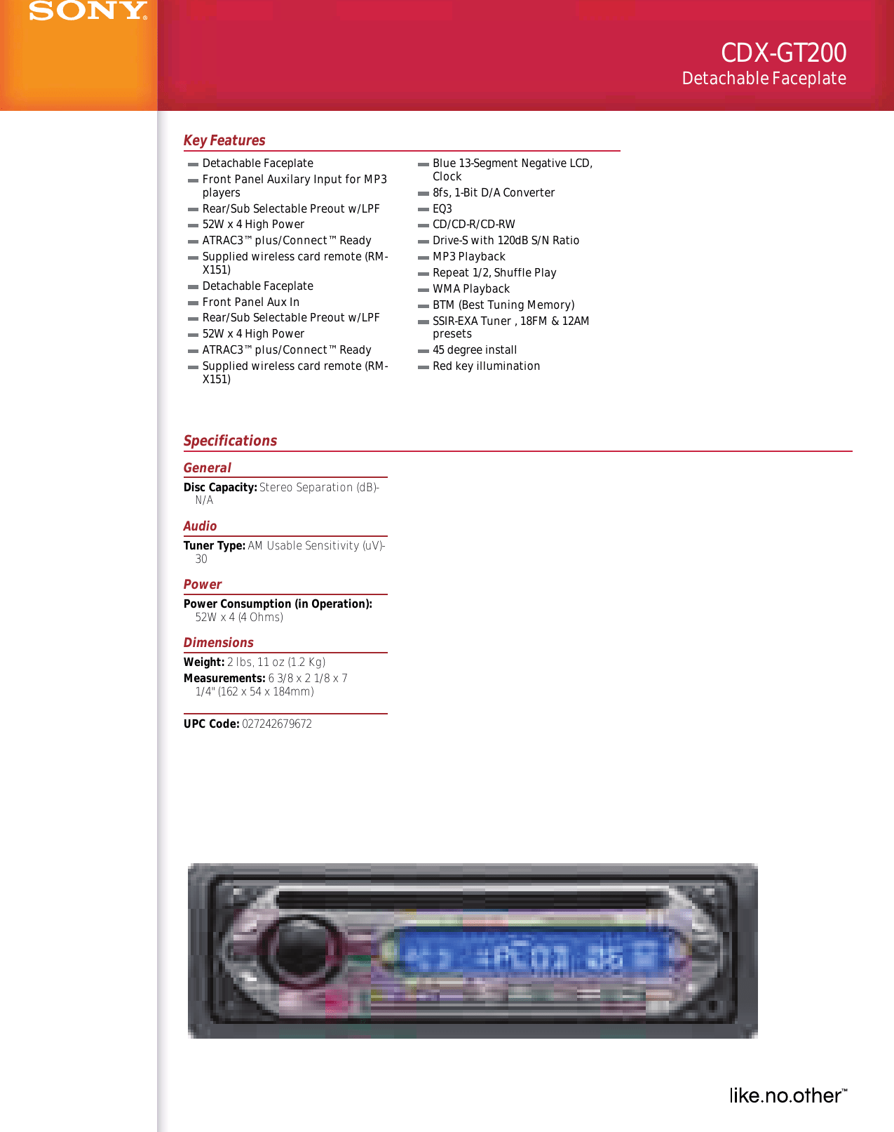 hight resolution of sony cdx gt200 wiring diagram