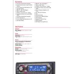 Sony Drive S Cdx Gt300 Wiring Diagram 1996 Mitsubishi Mirage Radio User Manual Marketing Specifications Cdxgt300 Mksp