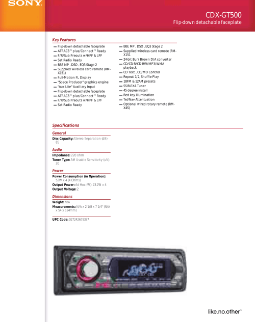 small resolution of sony cdx gt500 wiring diagram