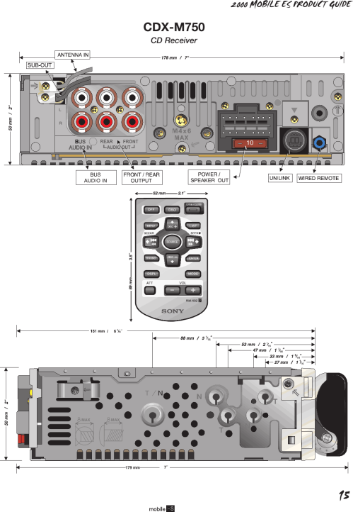 small resolution of page 2 of 2 sony cdx m750 90226a me product guide p1ver4 user manual