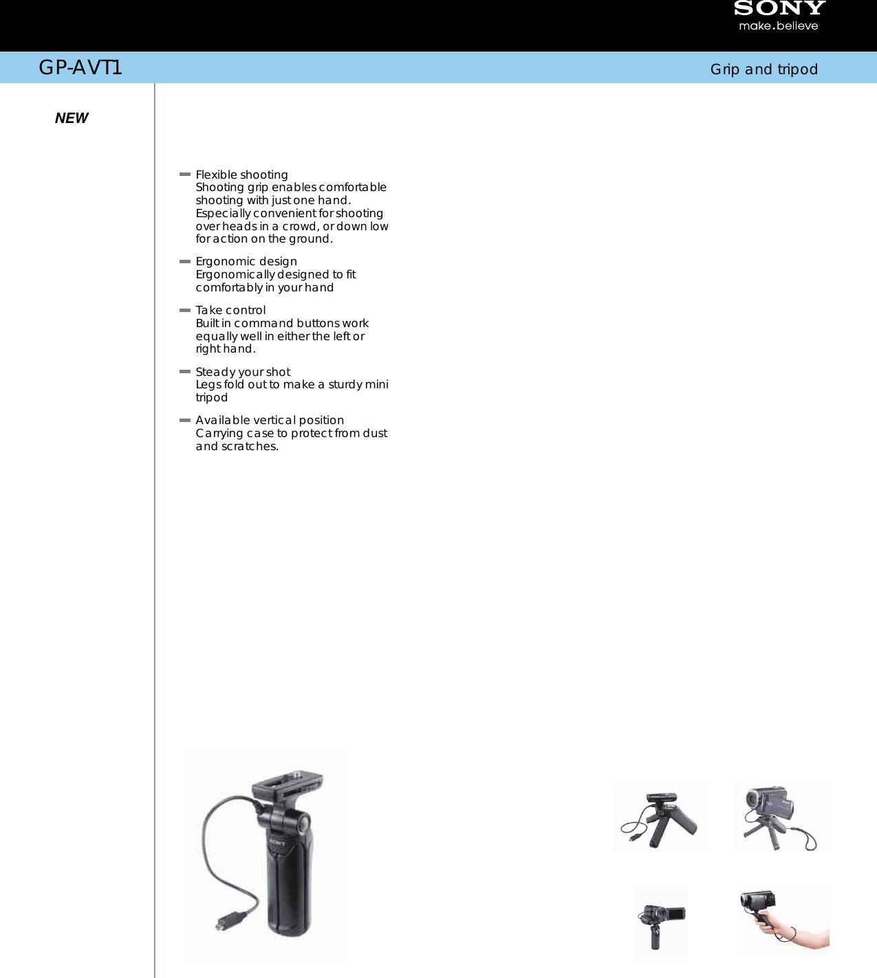 Sony GP AVT1 User Manual Marketing Specifications GPAVT1 Mksp
