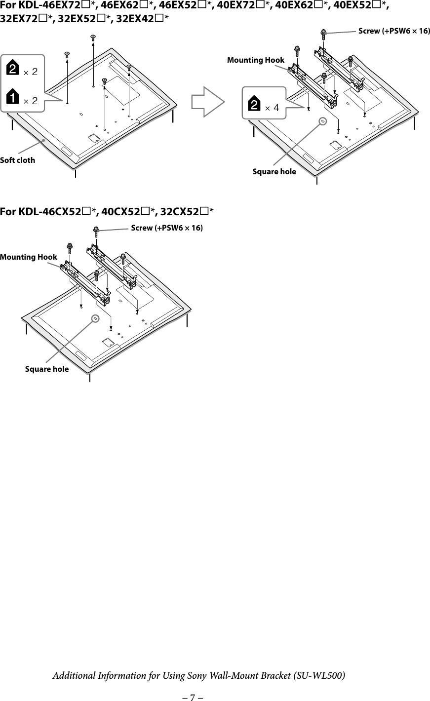Sony KDL 32EX521 SU WL500 User Manual Additional