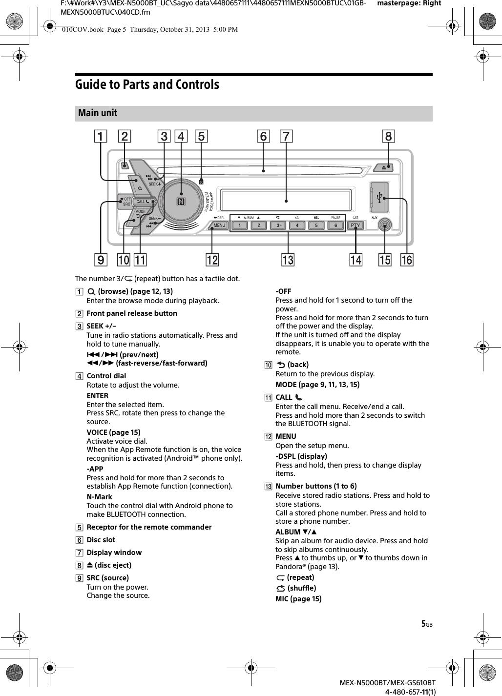 Sony Bluetooth Audio System Mex N5000bt