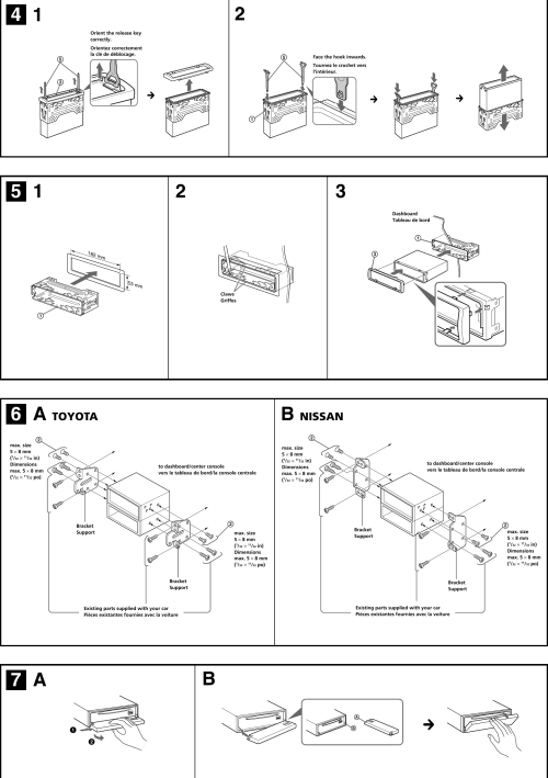 small resolution of page 3 of 4 sony sony cdx f5500 installation instructions