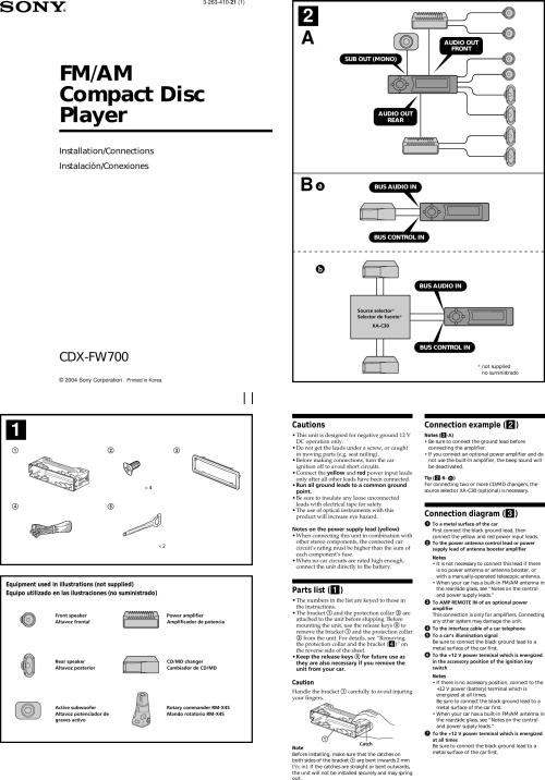 small resolution of sony cdx fw700 installation instructionssony cdx fw700 wiring diagram 18