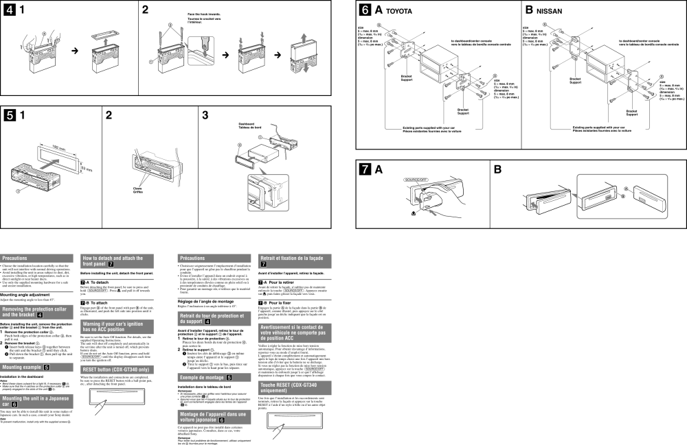 medium resolution of page 2 of 2 sony sony cdx gt240 users manual