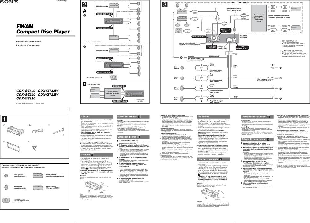 medium resolution of wiring diagram sony cdx m630 wiring diagram sony cdx wiring diagram pin
