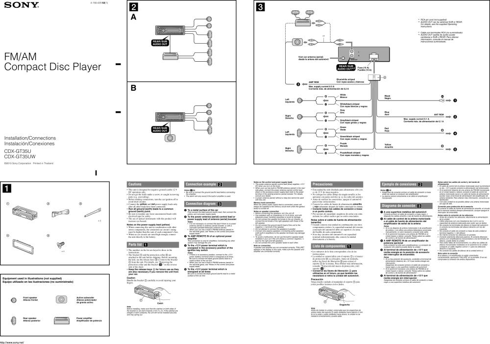 medium resolution of sony cdx gt35u installation connections manual gt35u gt35uwsony cdx gt35u wiring diagram 1