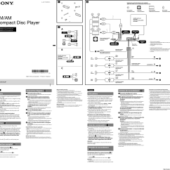 Sony Cdx Gt575up Wiring Diagram Stihl Ms 270 Parts Installation Connections Manual Page 1 Of 2