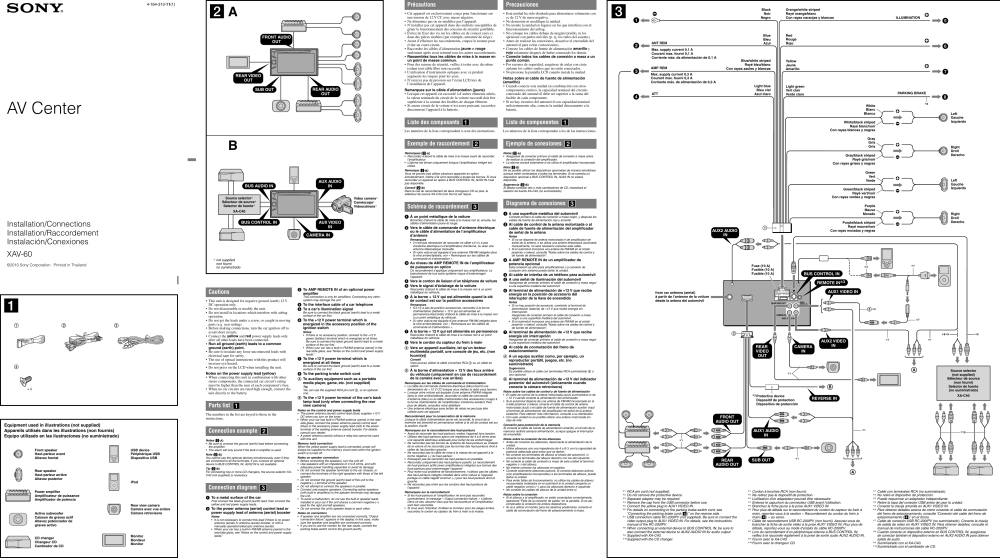 medium resolution of sony xav 60 wiring harness wiring librarysony xav 60 installation connections manual sony cdx gt310 wiring
