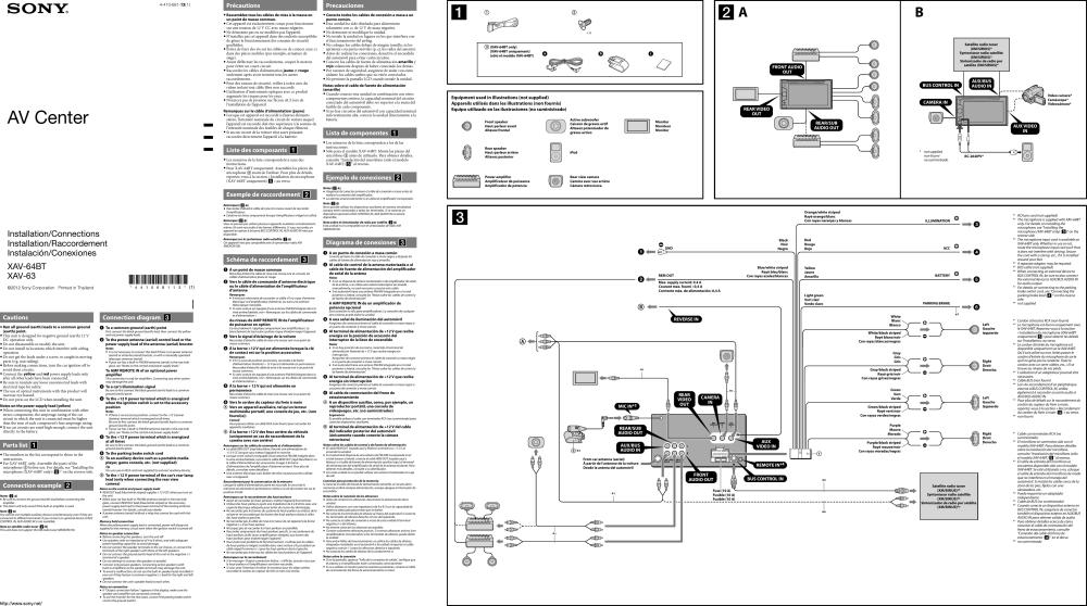 medium resolution of sony xav 64bt wiring diagram wiring diagrams secondsony xav 63 wiring diagram wiring diagram fascinating sony