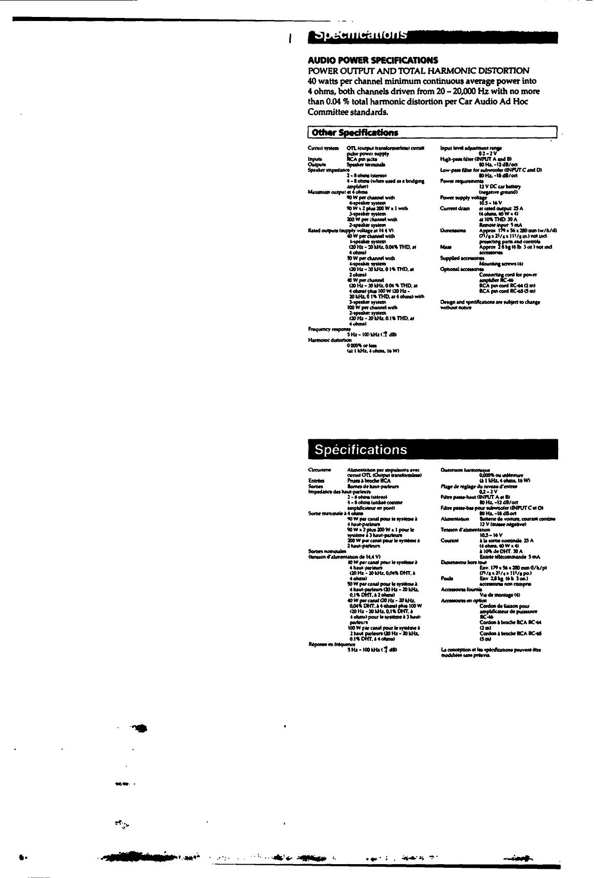 Sony Xm 4045 Users Manual