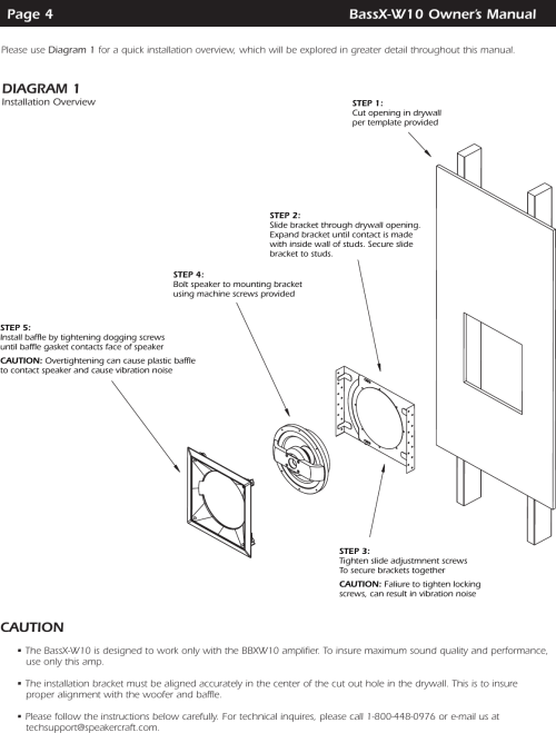 small resolution of page 4 of 12 speakercraft speakercraft speakercraft powered in wall