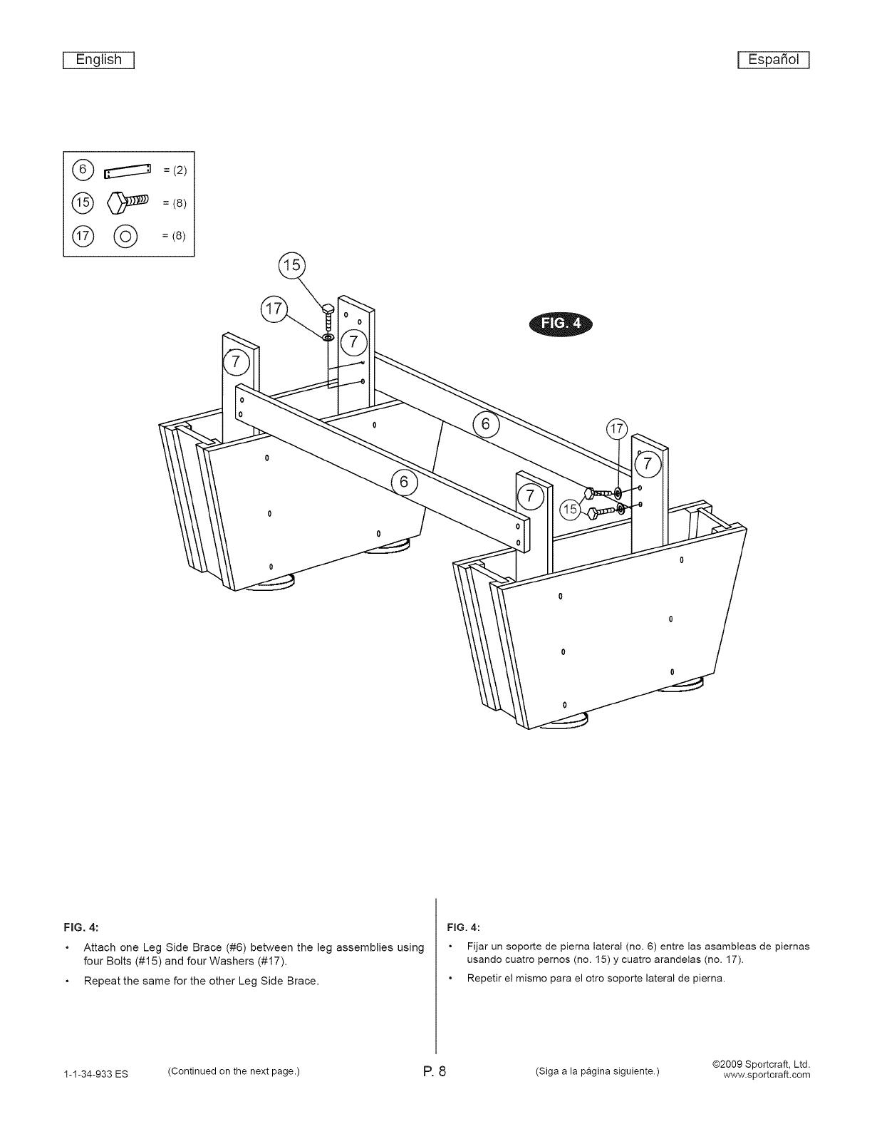 Sportcraft 1 34 933ES User Manual AIR HOCKEY Manuals And