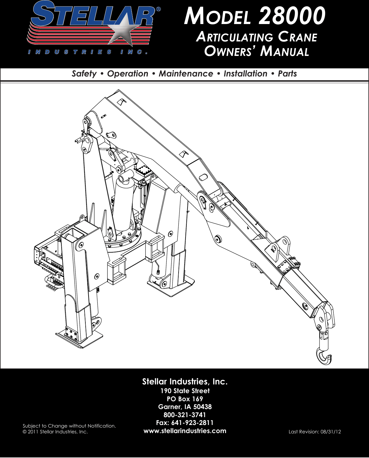 Stellar Industries 28000 Users Manual Articulating Crane