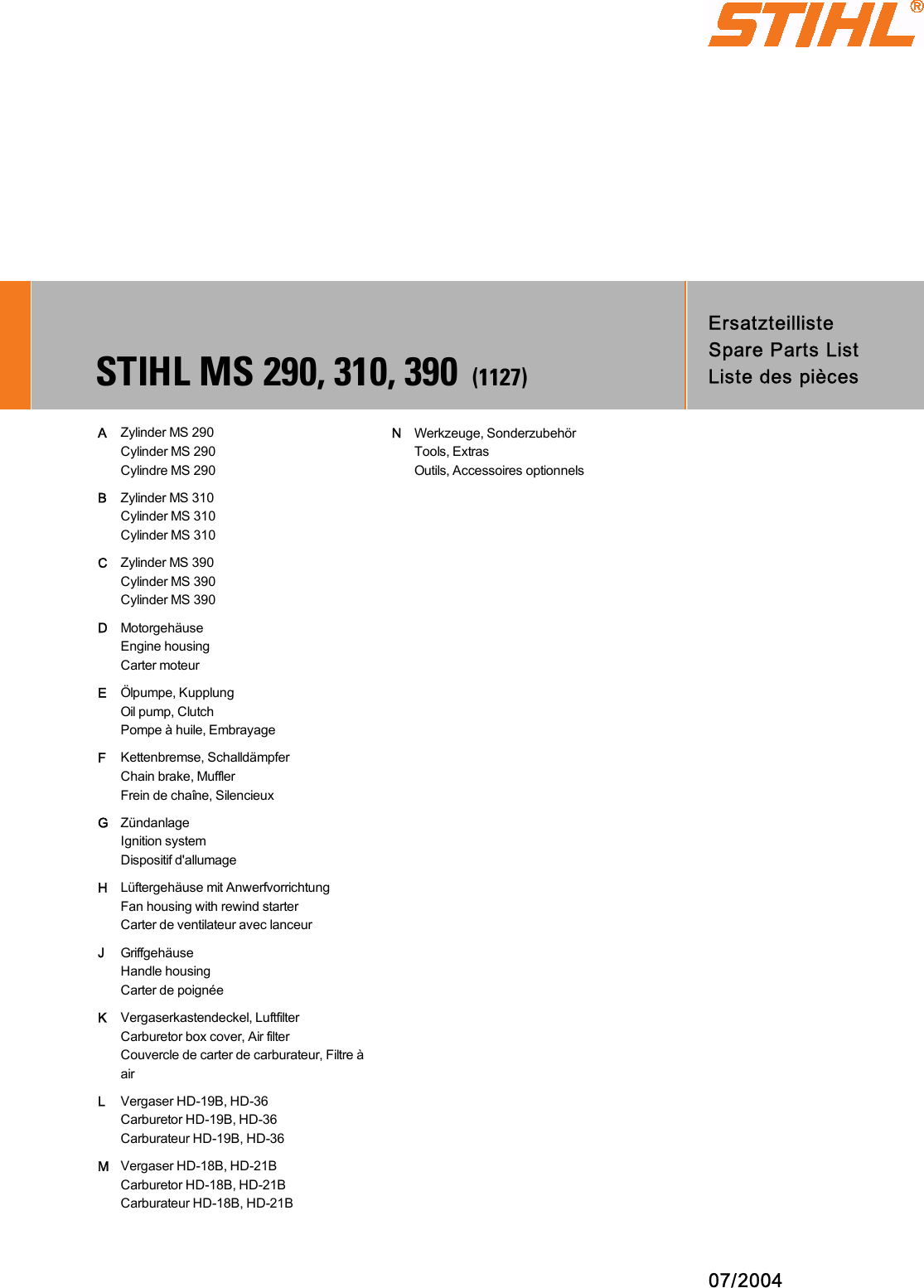 hight resolution of stihl ms 290 farm boss parts list manualslib makes it easy to find manuals online