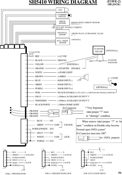 small resolution of super nova co h1af300 2 way car alarm transceiver unit user manual sh5410f1we 1 hijack e