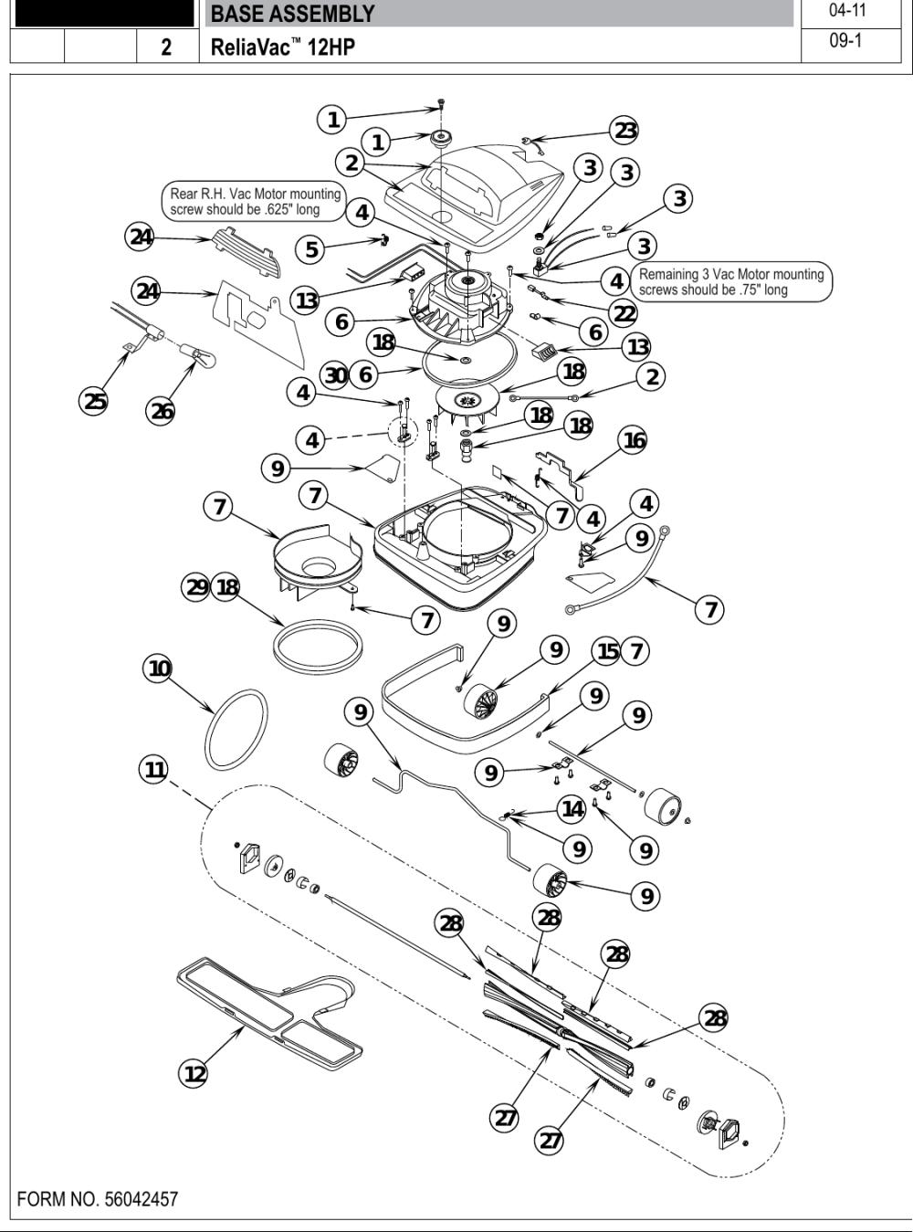 medium resolution of page 4 of 12 clarke reliavac 12hp upright vacuum parts