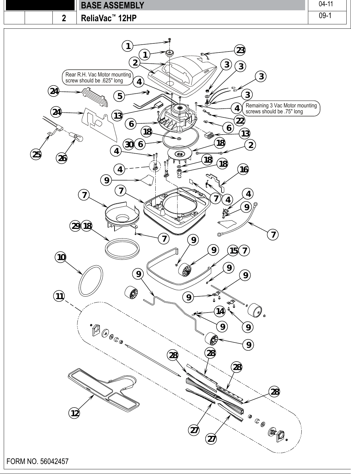 hight resolution of page 4 of 12 clarke reliavac 12hp upright vacuum parts