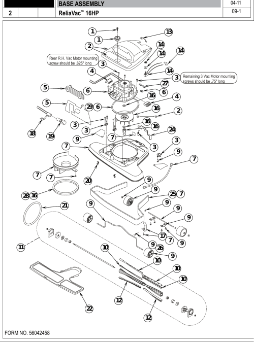 small resolution of page 4 of 12 clarke reliavac 16hp upright vacuum parts