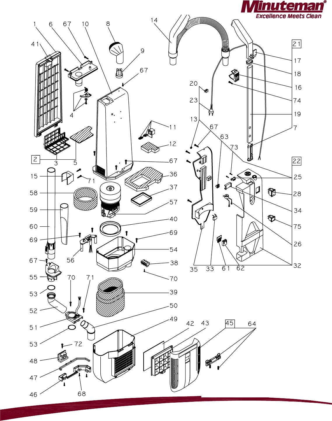 988743 Parts Manual Phenom L1518 Upright Vac REV STAR 0212