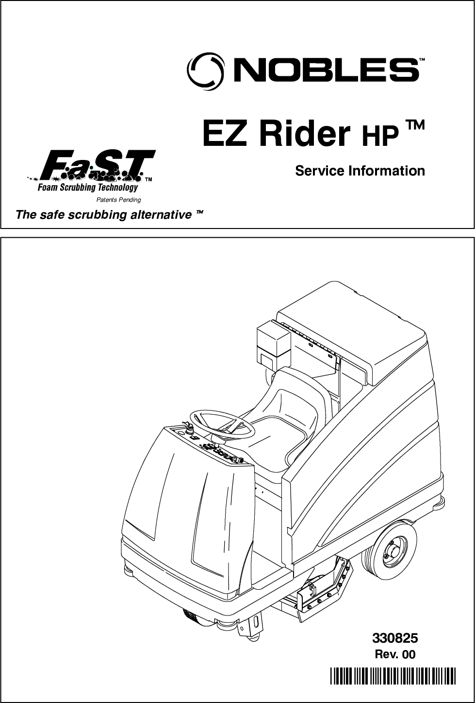 EZ Rider HP Service Manual Nobles floor scrubber