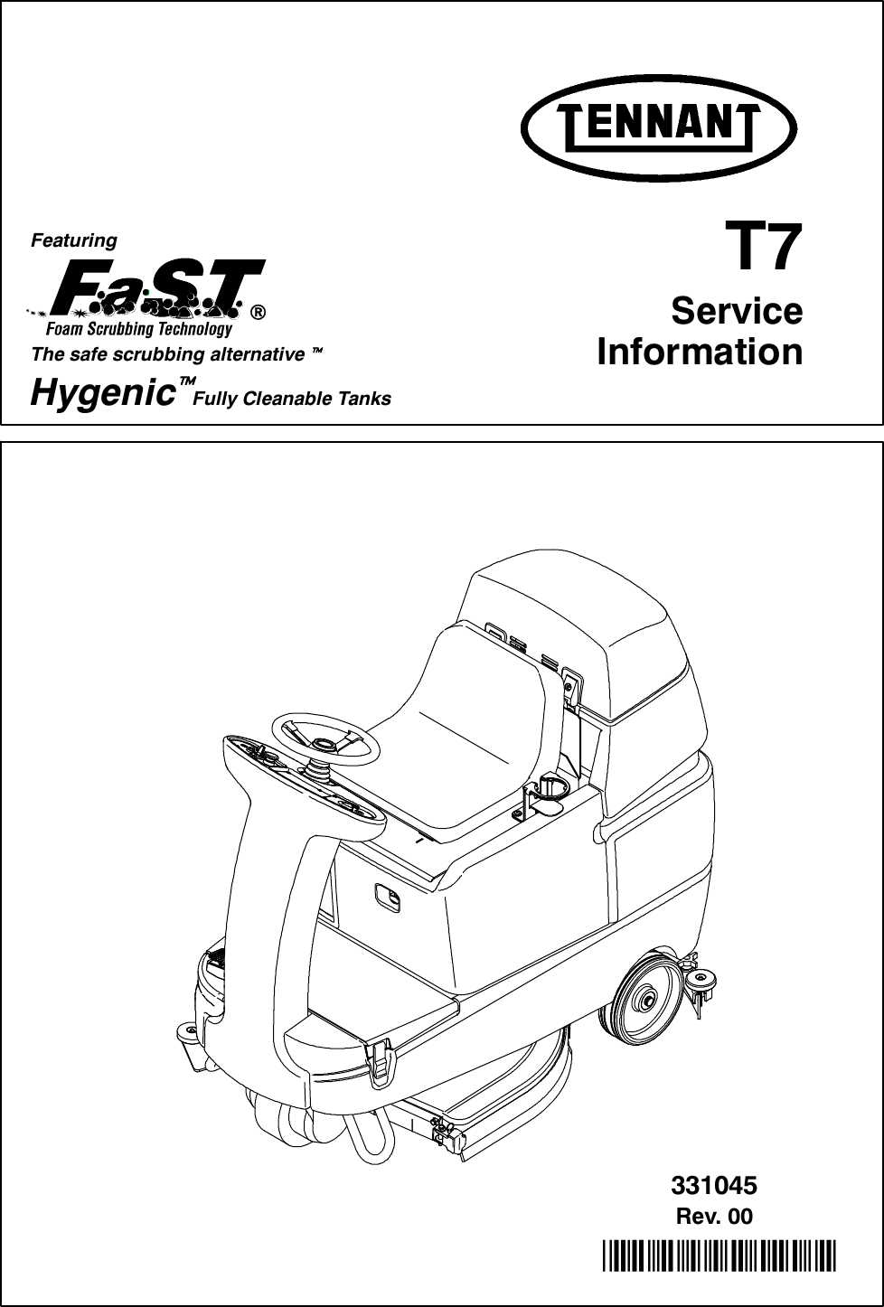 T7 Service Manual Tennant rider floor scrubber