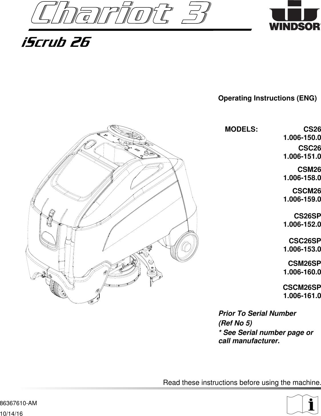 8 636 761 0 Chariot CS26 Windsor 3 iscrub 26 rider