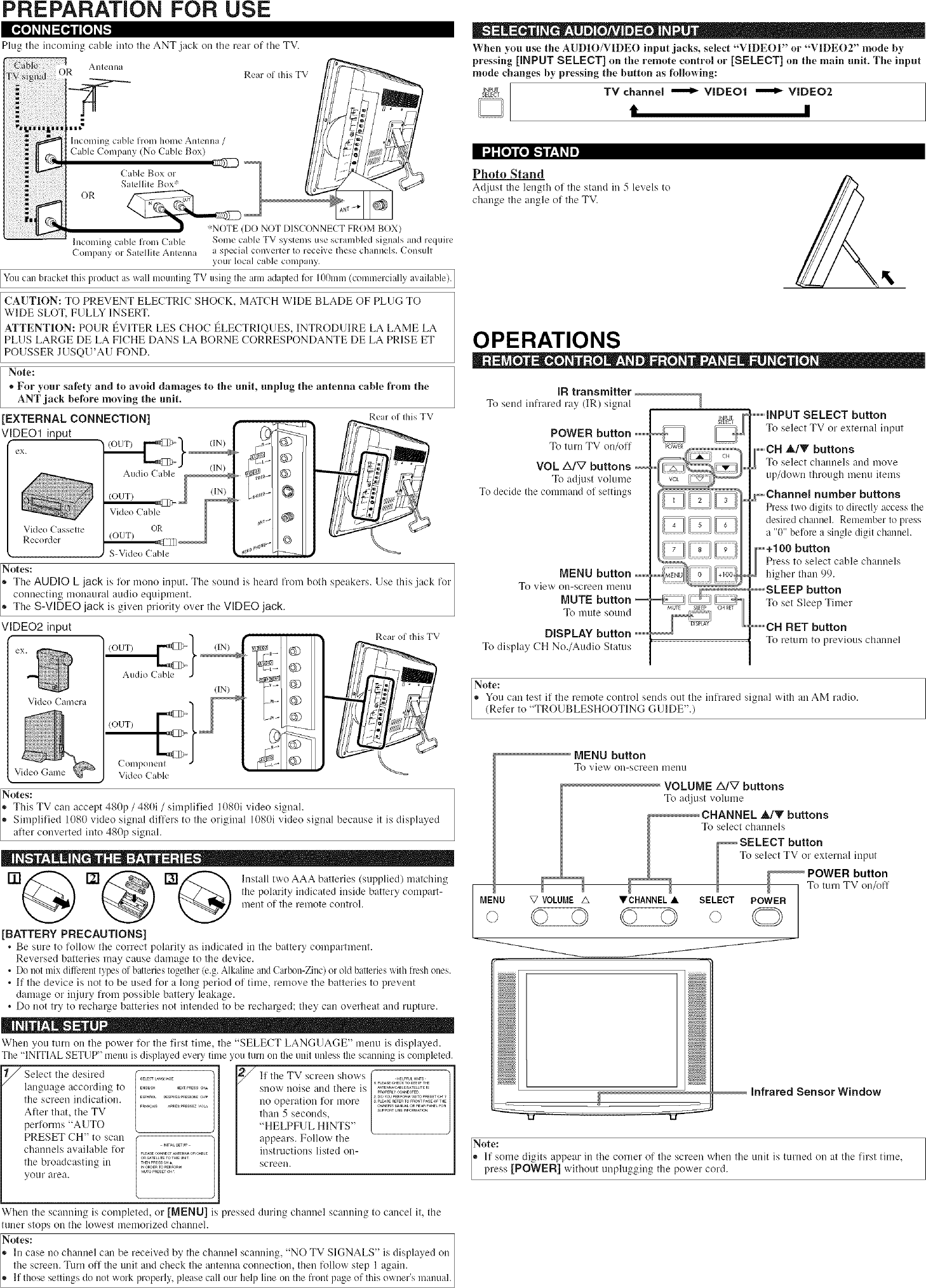 Sylvania 6615LCT User Manual LCD TELEVISION Manuals And