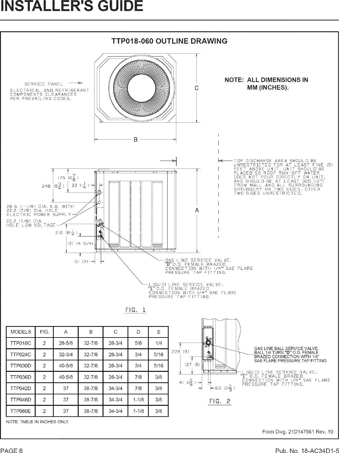 TRANE Air Conditioner/heat Pump(outside Unit) Manual L0801741