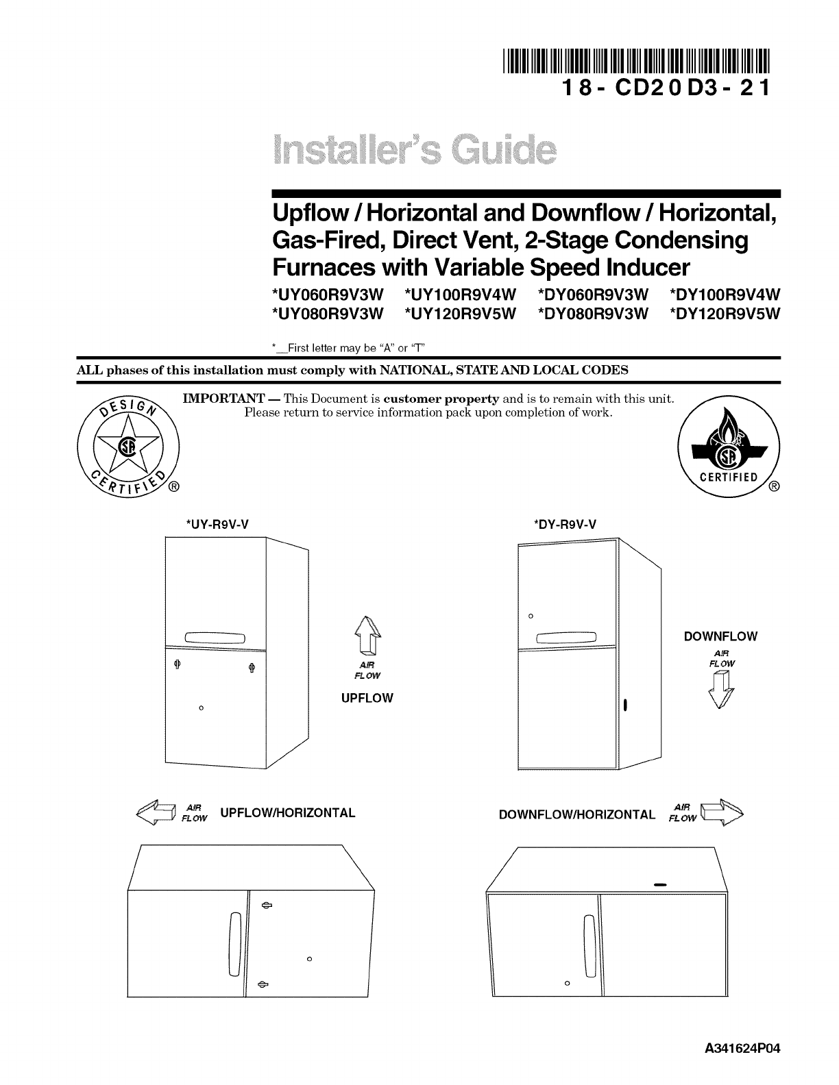 hight resolution of a ground joint union and a manual gas shutoff valve should be installed ahead of the unit heater controls to permit servicing download trane furnace pdf