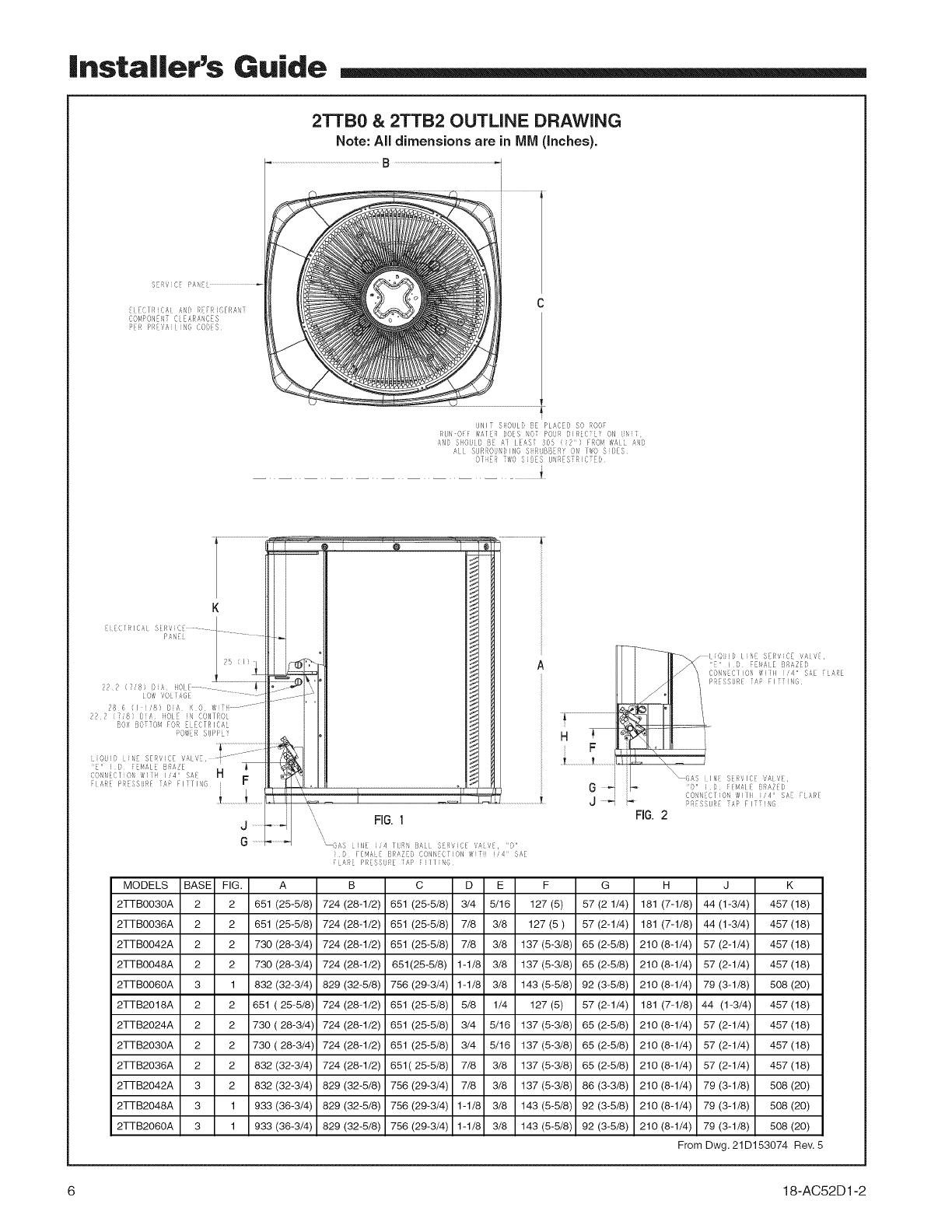 TRANE Air Conditioner/heat Pump(outside Unit) Manual L0903228