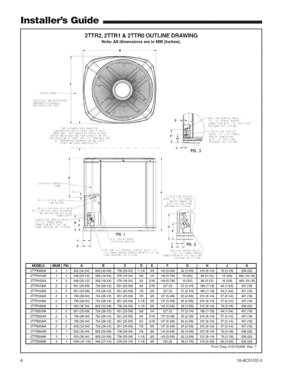 TRANE Air Conditioner/heat Pump(outside Unit) Manual L0903230