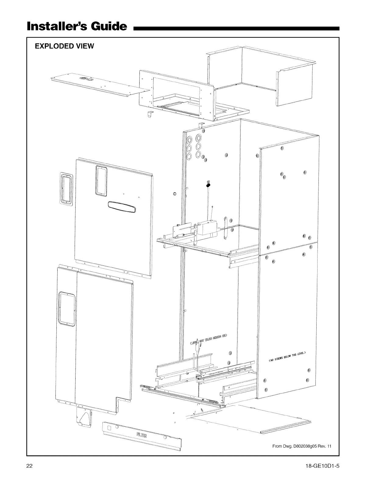 TRANE Air Handler (indoor Blower&evap) Manual L0905031