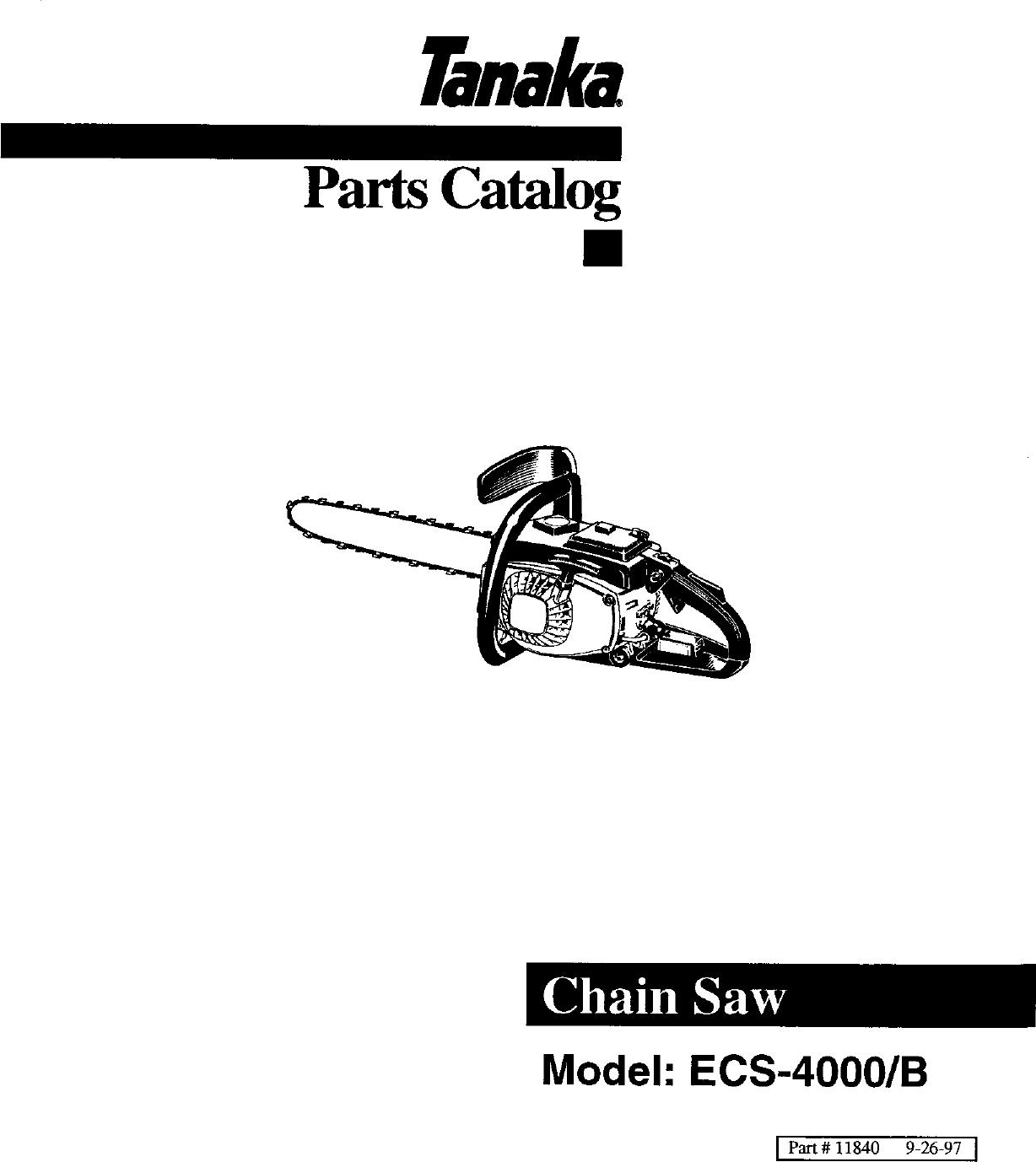 Tanaka Ecs 4000 B Users Manual