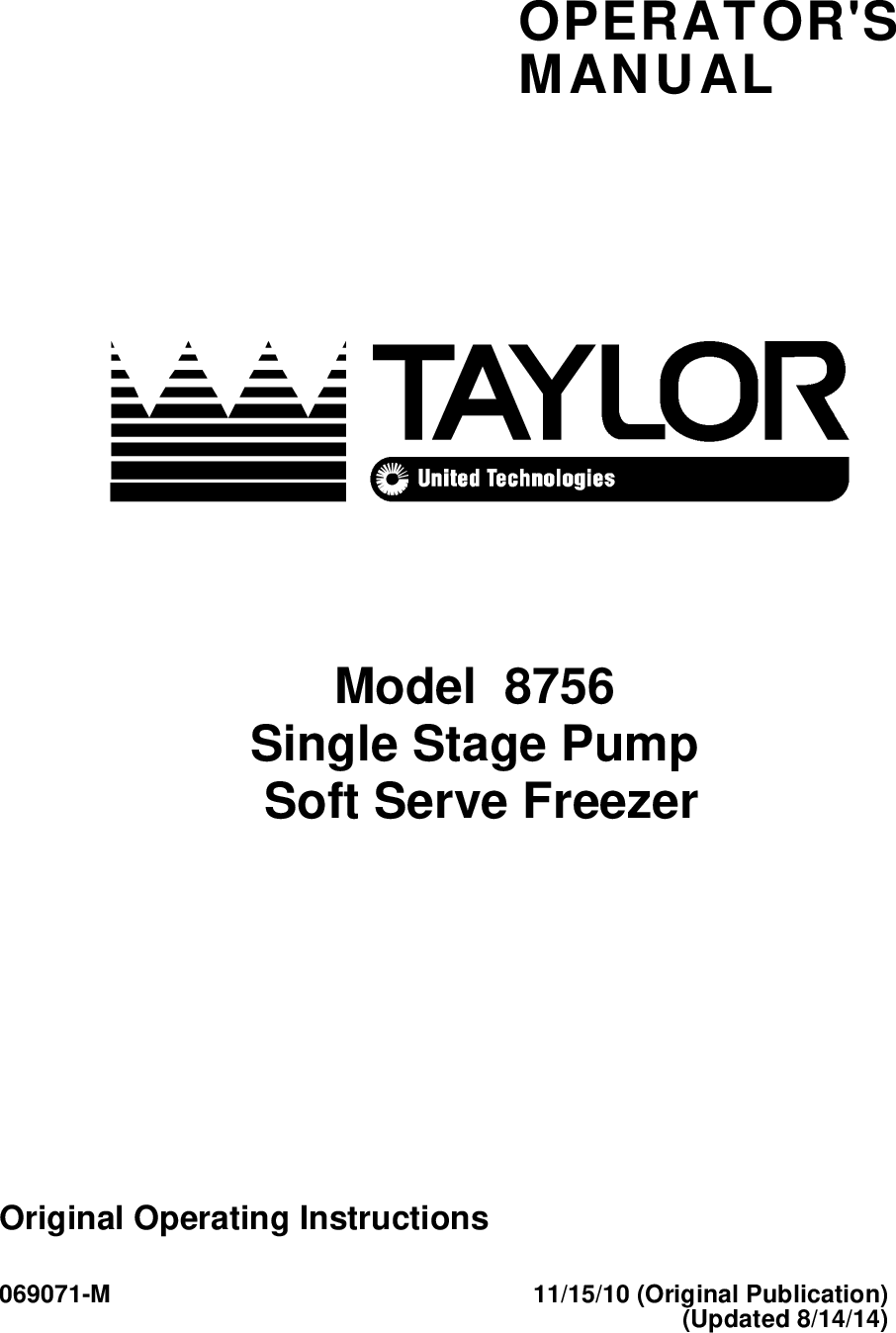Taylor 8756 User Manual To The A465c5cc 0760 4631 9e32