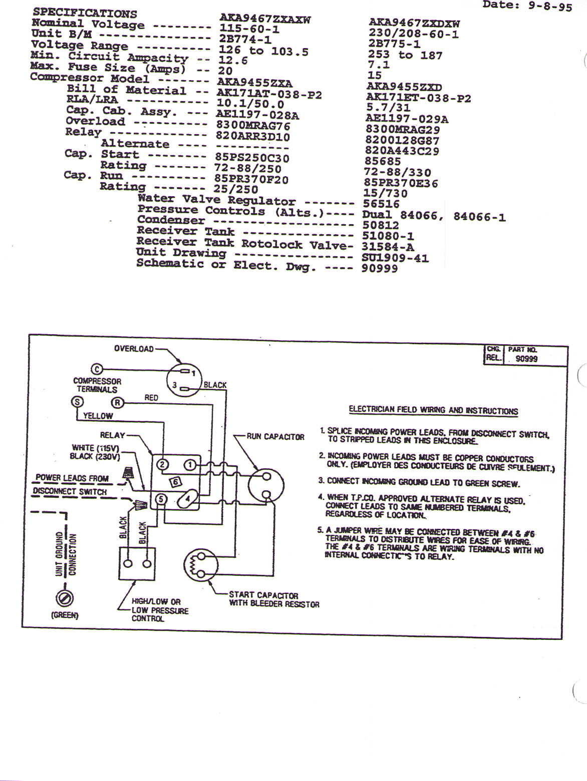 Wiring Diagram For Tecumseh Compressor