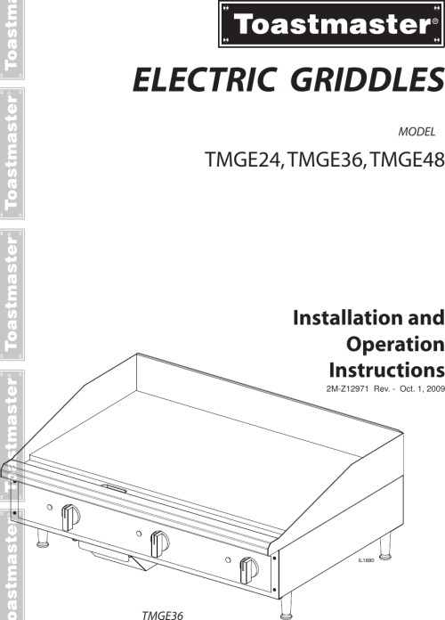 small resolution of page 1 of 12 toastmaster toastmaster cooktop tmge24 users manual