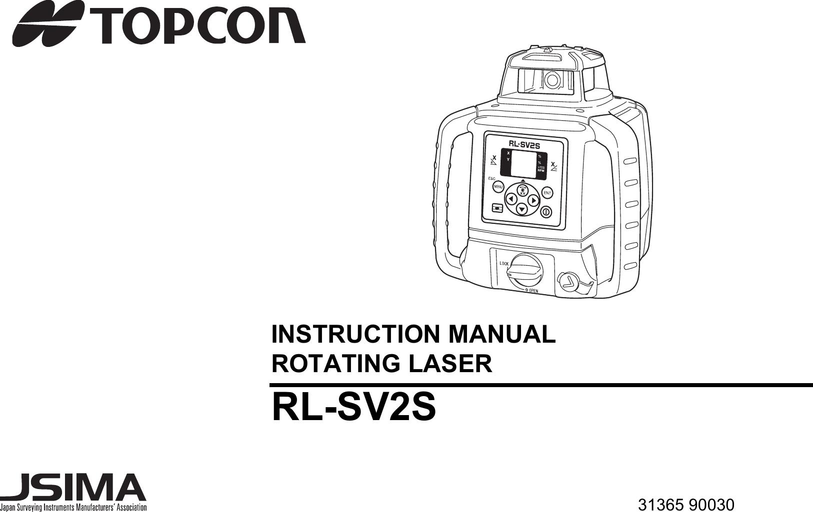 Topcon RLSV Rotating Laser User Manual RL SV2S E 0628